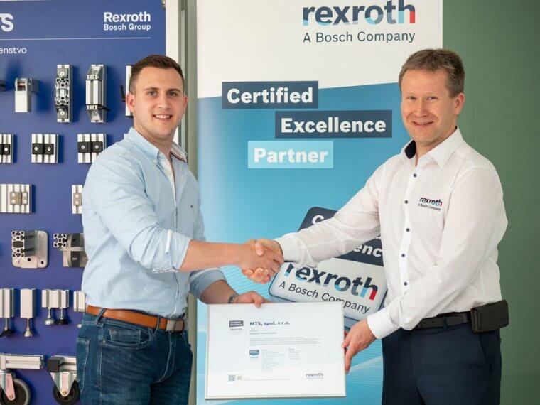 Stali sme sa certifikovaným zmluvným partnerom Bosch Rexroth