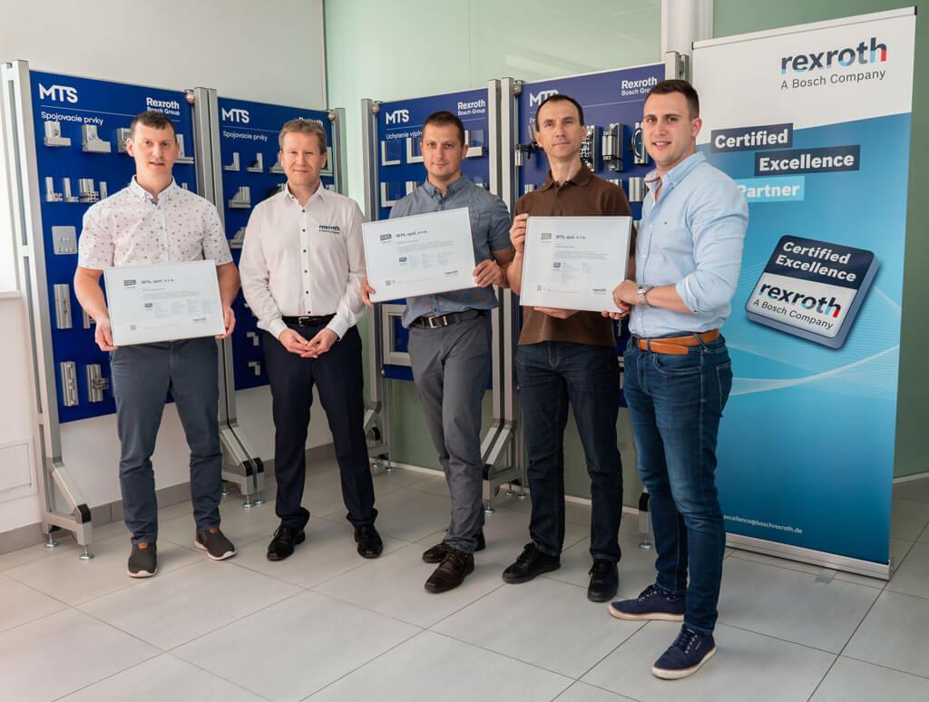 MTS sa stala certifikovaným zmluvným partnerom firmy Bosch Rexroth